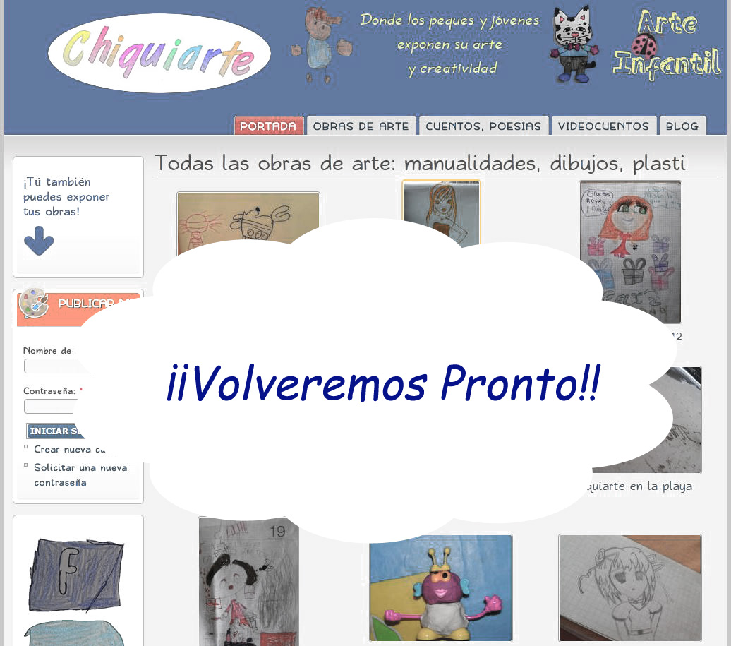 �Volveremos pronto!
